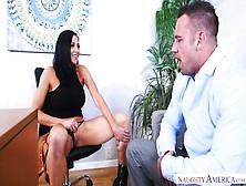 Whorish Secretary Audrey Bitoni Seduces Her Boss And Gives Him B