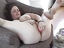 Amateur Brunette With Big Natural Tits Toying Pussy