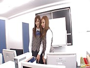 Ayane Sakura And Kotone Amamiya Office Ladies In Hot Japanese Se