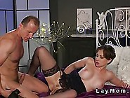 Dark Haired Woman Is Playing With Her Tits While Her Lover Is Li