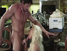 Blonde-Haired Sexpot Can't Resist In Front Of Such Cavalier
