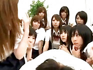 Large Group Of Japanese School Girls