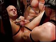 Tattooed Sex Slave Masturbating While Getting Fisted