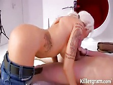 Jeans-Clad Bitch Getting Face Fucked