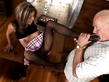 Stocky And Bald Stud Gets His Foot Fetish Fantasies Fulfilled By
