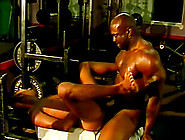 Sweaty,  Muscular Black Men Have Gay Sex In The Gym