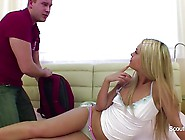 Stepbro Seduce Blonde Step-Sister To Fuck Her Tight Ass