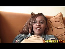 Firm-Bodied Babe From Africa Bends Over And Gets Fucked By White