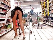 Kinky Housewife Goes Around The Mega-Market And Inserts Various