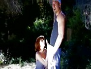 French Brunette Fucked In A Forest