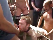 Slut-Boy Tied Up And Humiliated In Public Gang-Fuck