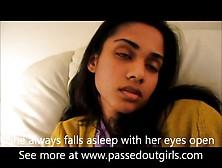 Indian Girl Fell Asleep With Her Eyes Open