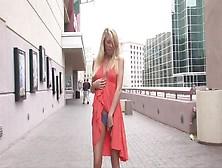 Blonde In Dress Is Having Solo