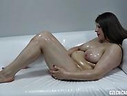 Bbw Slut Oils Up Her Massive Tits On A Casting