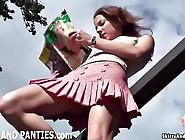 Farmers Daughter Flashing Her Panties Outdoors