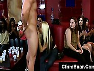 Group Of Cfnm Amateurs Giving Blowjobs To Strippers At Party