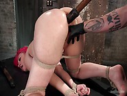 Proxy Paige Tortured By Sadist While Being Tied Up And With Her