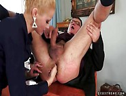Goddess Sucks Old Guy Dick And Fingers His Ass