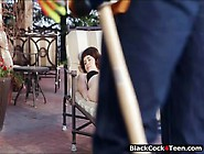Asian Teen Babe Yhivi Fucked Outdoors By Big Black Cock