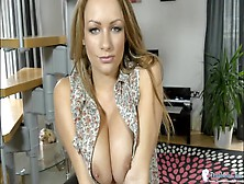Beauty Catches You Staring At Her Sexy Tits
