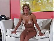 Mature Milf With Tan Lines Eats Cum