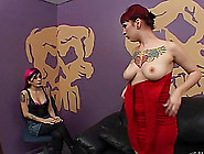 Jessie Lee Sucks Two Dicks And Gets Showered With Cum