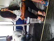 Chinese Cute Girl Inside Train