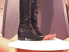 Trampling Cock And Balls With Dirty Gabriele Over-Knee Boots