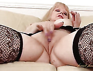 Solo Mature Blonde Cutie Fucks A Dildo