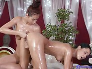 Sexy Paula And Angie Having Oiled Up Lesbian Fun