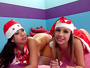 Carmen Caliente And Kimmy Lee Are Swallowing Jizz