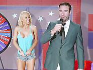 Gorgeous Blonde Slut Goes On A Game Show For Hardcore Fucking