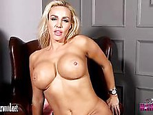 Hot Blonde Dannii Harwood Strips Naked And Plays With Tight Puss