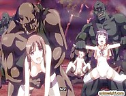 Anime Cutie Brutally Monsters Gangbang Fucked And