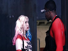 A Blonde With A Sexy Pussy Is Fucked By A Black Dude In A Parody