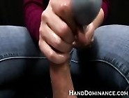 Mean Amateur Femdom Milks Submissive Guy