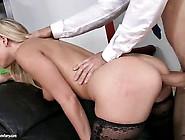 Blonde Stockings Slut Loves The Taste Of Her Own Ass