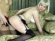 Adorable Blonde Lesbians Irene And Natali Fulfill Their Desires