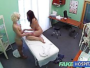 Fake Blonde Doctor Massages And Eats Out Her Newest Brunette Pat