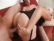 Sexy Blonde Milf Is Fucked Hard By Two Guys