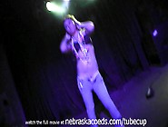 Strip Masturbation Show On Stage At Strip Club