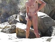Steve Cums Wanking On Beach