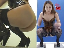Japanese Beauty Wearing Lingerie While Pooping Plastic