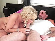 Big Breasted Blonde Granny Has A Young Man Fulfilling Her Sexual