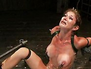 Big-Titted Tied Gal Has An Anal Destruction From Device