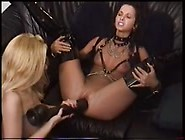 Two Nasty Lesbians With Huge Dildo