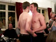 2 Rugby Men Strip Naked In Pub