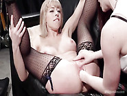 Leggy Dominating Lesbian Pounds Booty Lady By Strap-On