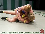Busty Holly And Darling In A Lesbian Wrestling Match