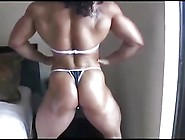 Fbb Alina Flexing Her Muscles